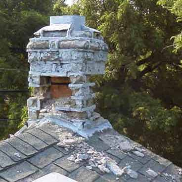 Vishey Home Inspection - Actual Chimney on House Found During Inspection